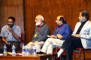 Benyamin, Sitanshu Yashaschandra, Satchidanandan and Subodh Sarkar